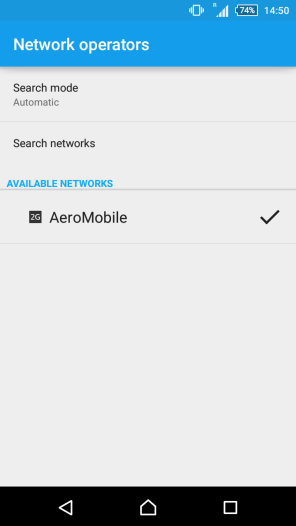 Connecting to AeroMobile network
